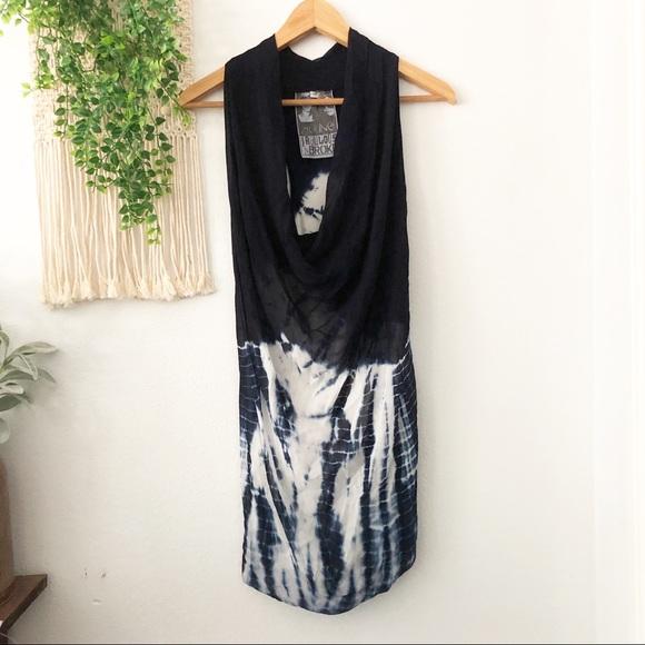 Young Fabulous & Broke Dresses & Skirts - YBF Blue White Tie Dye Ariana Cowl Tunic Dress